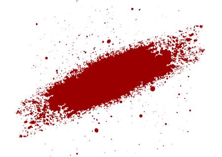 abstrakter Vektor Blutspritzer gemalt isolierten Hintergrund. Illustrationsvektordesign