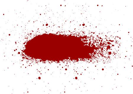 vector abstracto Salpicadura de sangre pintado fondo aislado. diseño de ilustración vectorial Ilustración de vector