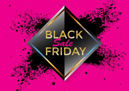 Abstract Vector Black Friday Sale Banner Background. illustration vector design.