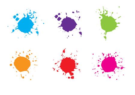 abstract vector colorful paint splatter.paint splash set. illustration vector design.