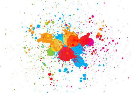 abstract splatter color background. illustration vector design Иллюстрация