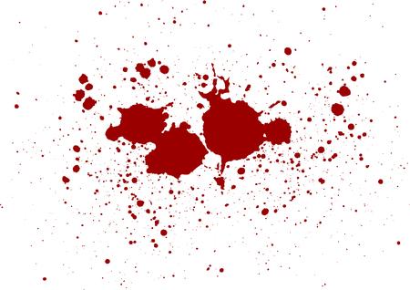 abstrakter Vektor-Blutspritzer-Design-Hintergrund. Illustrationsvektordesign