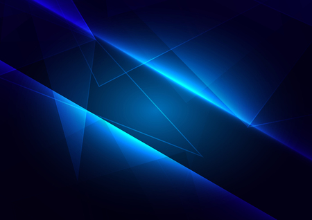 Abstract blue light with polygon connect of future background. illustration vector design  イラスト・ベクター素材