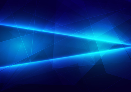 Abstract blue light with polygon connect of future background. illustration vector design