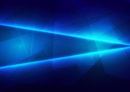 Luce blu astratta con connessione poligonale di sfondo futuro. illustrazione vettoriale design