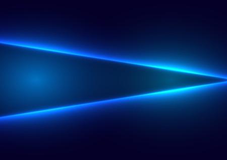Abstraktes blaues Lichtkonzept des zukünftigen Hintergrundes. Illustrationsvektordesign