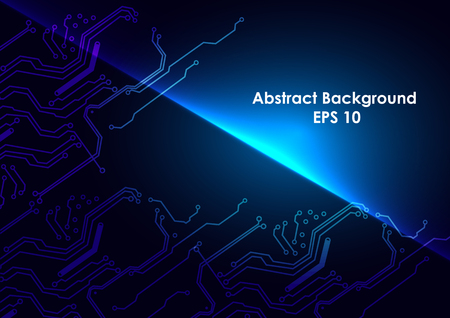 abstract circuit technology vector blue background. illustrtation vector design.