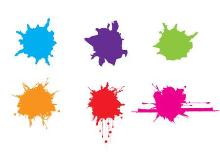 vector splatter color paint . paint splashes set.vector illustration.
