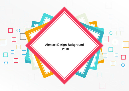 Abstract geometric and white color concept design background. illustration vector design Ilustrace