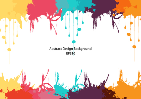 abstract splatter color design background. Bright watercolor. illustration vector design