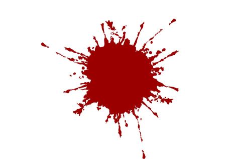 abstrakter Vektor-Splatter-roter Farbhintergrund. Illustrationsvektordesign