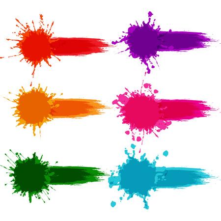 vector colorful paint splatter, paint splash set,illustration  vector  design. Stock Illustratie