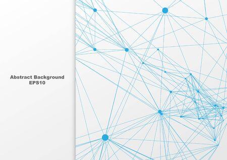 Abstract blue mesh on white background design. illustration vector design