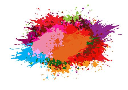 Vector color splatter paint background design. Vector illustration design