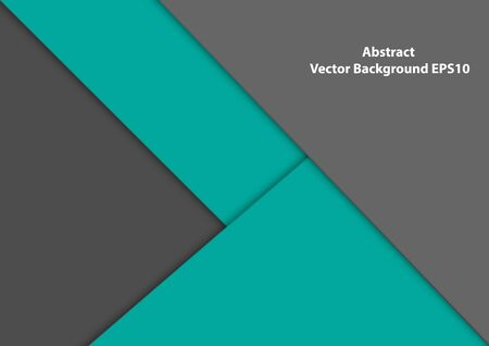 Abstract vector green turquoise and gray background. illustration vector design background