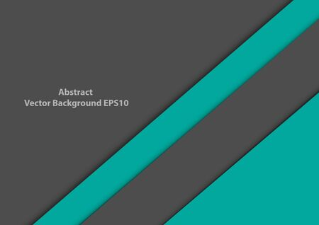 Vector background overlap modern design green turquoise and gray background. illustration vector design background