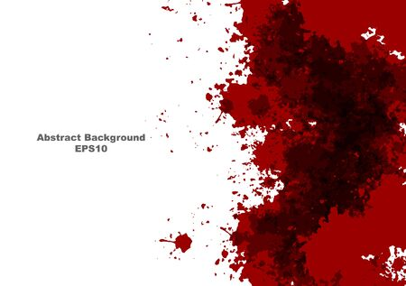 abstract vector splatter red color design background. vector splatter red color isolated on white background design. illustration vector design. Çizim