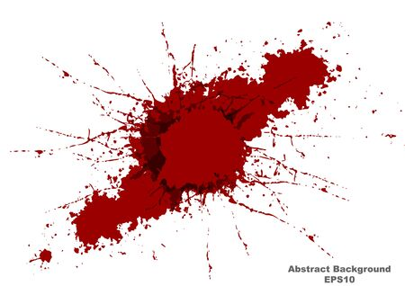 abstract vector splatter red color background, illustration vector design. Vector Illustration