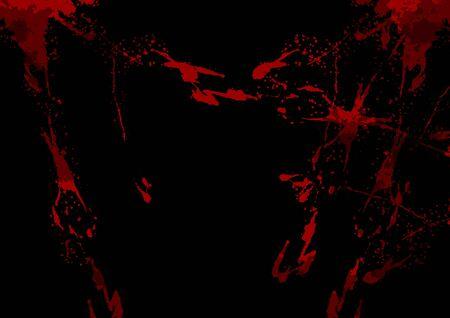 abstract vector splatter red color on black color design background. illustration vector design.
