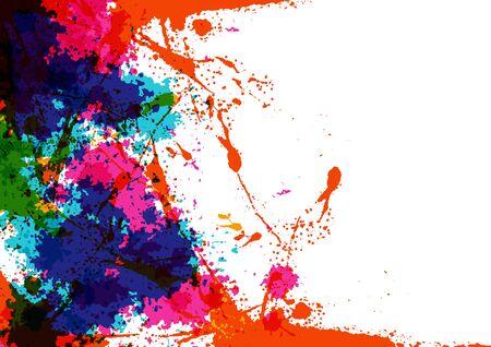 abstract vector splatter multicolor on white background design background concept ,illustration vector design