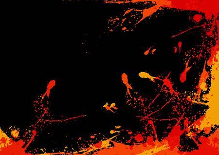 abstract vector splatter color design background concept ,illustration vector design Illustration