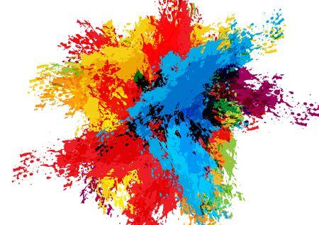 abstract vector splatter color design background. illustration vector design.