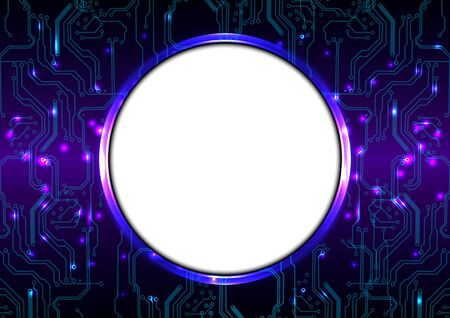 abstract circuit and circle technology concept design. circuit concept vector background.illustration vector design Illustration