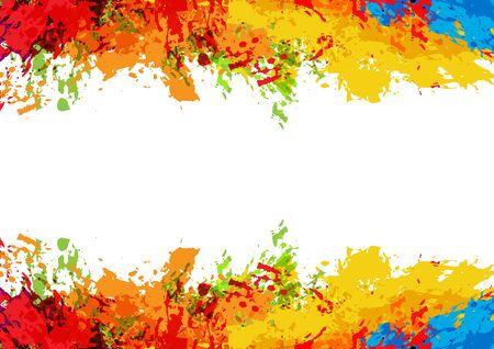 abstract vector splatter color on white color design background. illustration vector design.