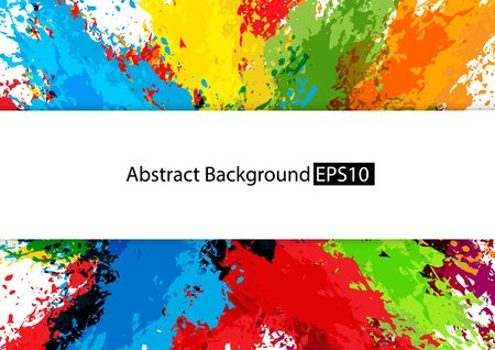 abstract splatter multi color design background,illustration vector design background. Illustration