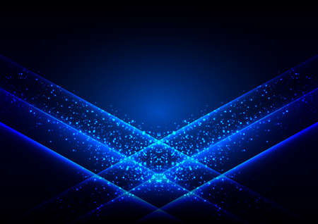 Abstract blue light glowing design background concept , vector illustration design background