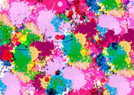 abstract vector splatter multi color design background. illustration vector design