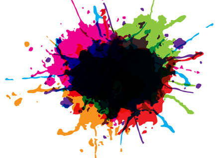 abstract vector splatter multicolor isolated background. illustration vector design