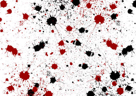 Abstract vector splatter red and black color isolated background design. illustration vector design. Illustration