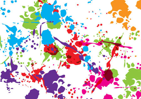 Abstract vector splatter color isolated color background design. illustration vector design.