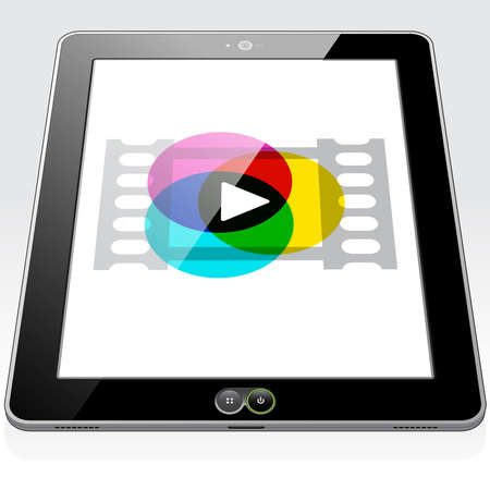 A Tablet PC presenting a