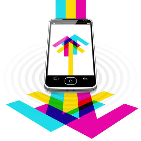 A Smart Phone streaming hi-speed internet data in both directions wirelessly.