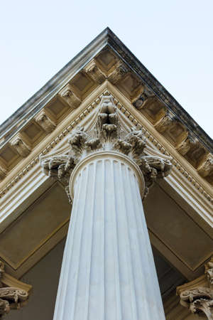 Column and building details of a historical architectural building. Stock fotó