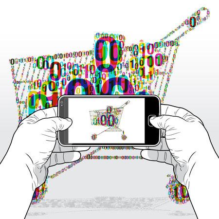 Digital e-commerce Shopping via a SmartPhone software app.