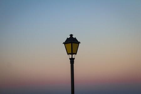 lamp post: