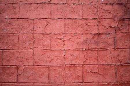 worn: Worn out red brick wall