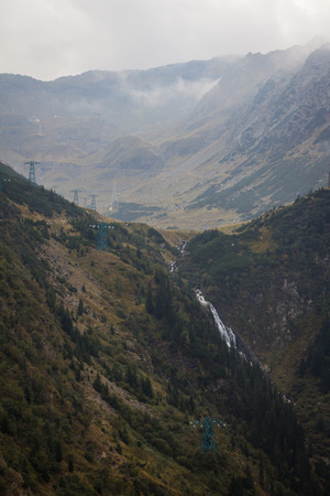 balea: Balea waterfall on the Transfagarasan highway, in the Carpathian Mountains, Romania Stock Photo