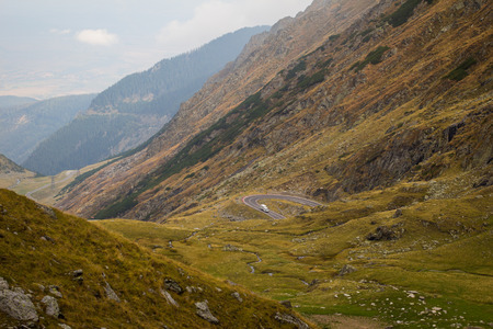 balea: Transfagarasan highway in the Carpathian Mountains, in Romania