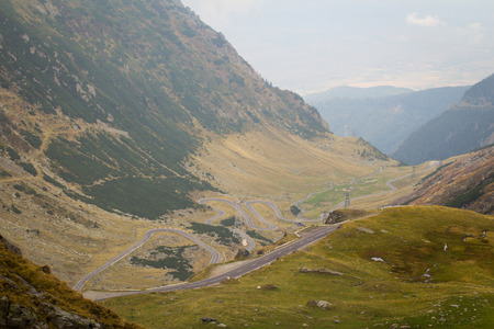 transfagarasan: Transfagarasan highway in the Carpathian Mountains, in Romania