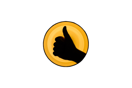 thumbs up: Hand making a Thumbs up sign Stock Photo