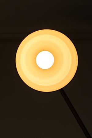 lamp light: Yellow light lamp turned on Stock Photo