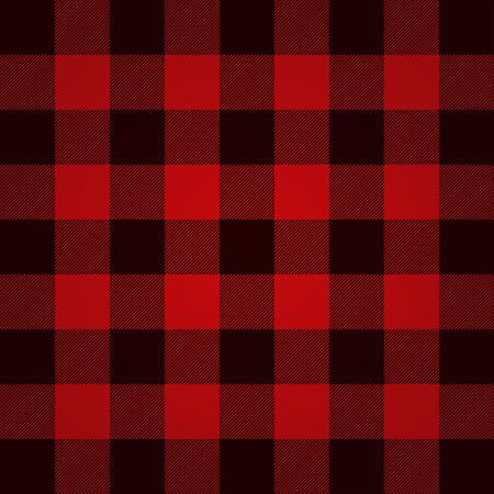 hombre rojo: A cuadros de leñador vector patrón