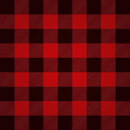 red black: Lumberjack plaid pattern vector Illustration