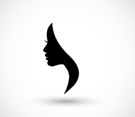 Woman profile beauty illustration vector Çizim