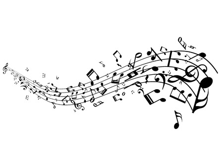 pentagramma musicale: Stave con il vettore delle note di musica
