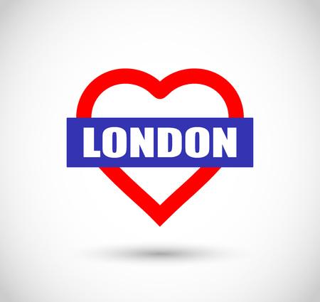 big shirt: London love sign vector